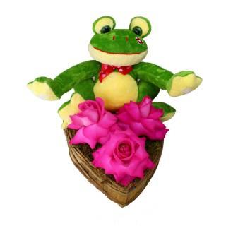 Sapo e Coração Aberto | Florisbella Floricultura