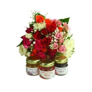 Colorido Mini Rosa e Geléia de Flores | Florisbella Floricultura