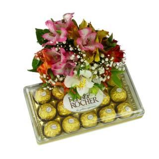 Colorido de Alstroeméria e Ferrero | Florisbella Floricultura