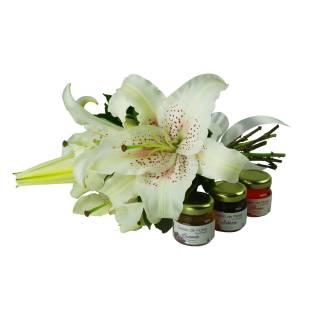 Lírios e Geléia de Flores | Florisbella Floricultura