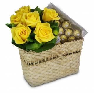 Chocolates Dourados Roche | Florisbella Floricultura