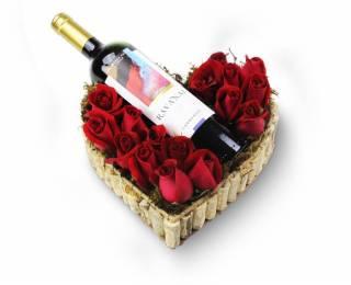 Amor e Vinho | Florisbella Floricultura