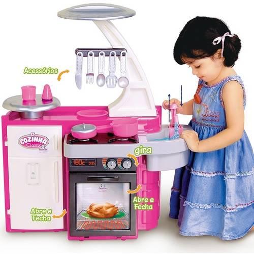 Cozinha Infantil Classic Pia Fogão e Geladeira - Cotiplás 1601