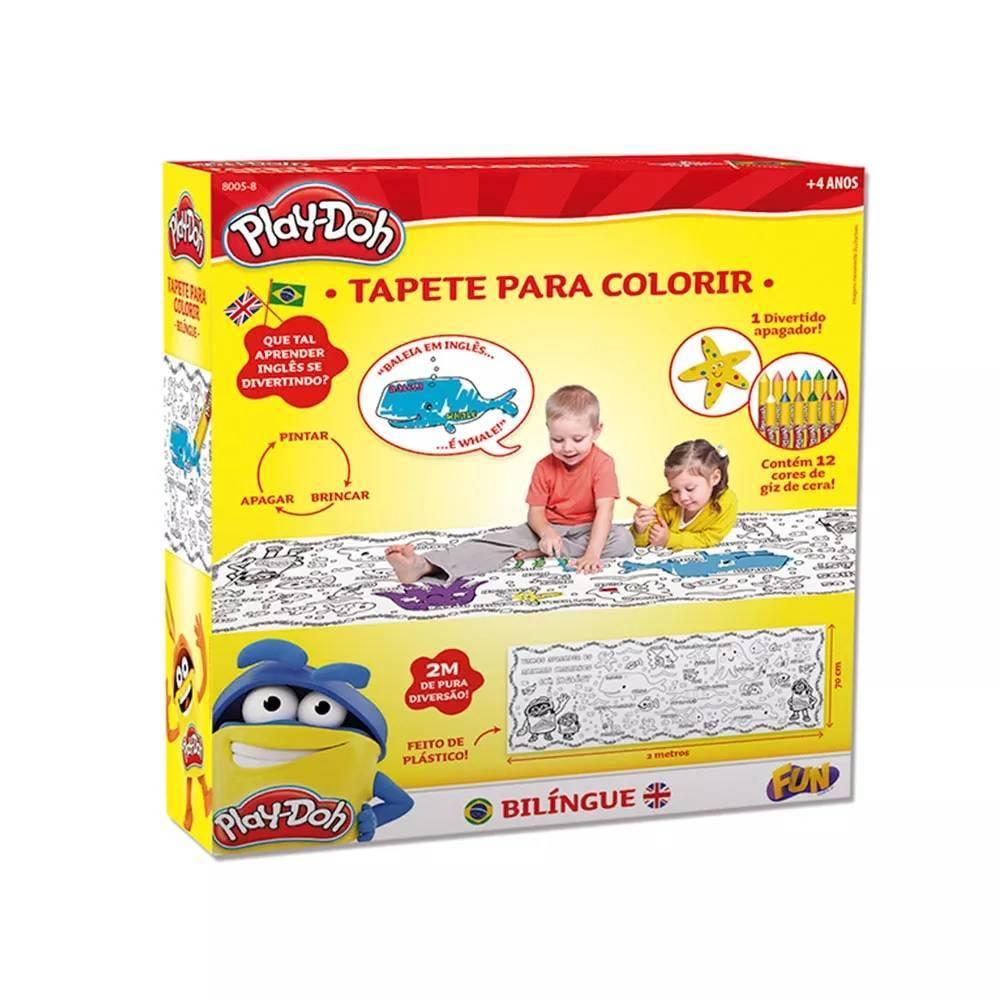 Tapete Colorido Play-Doh - Barão 8005-8