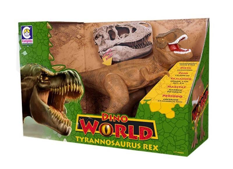 Tyrannosaurus Rex 42 cm Dino World com Som - Cotiplás 2088