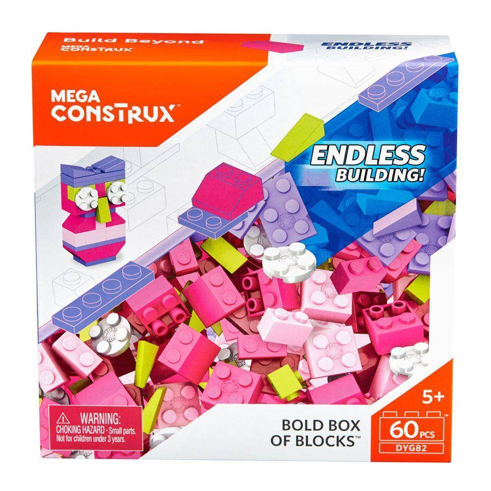 Coruja Box Small Blocks Mega Construx - Mattel DYG82