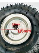 Pneu 4.10/3.50-4 para skate elétrico mini quadriciclo carrinho com aro 4 polegadas e camara