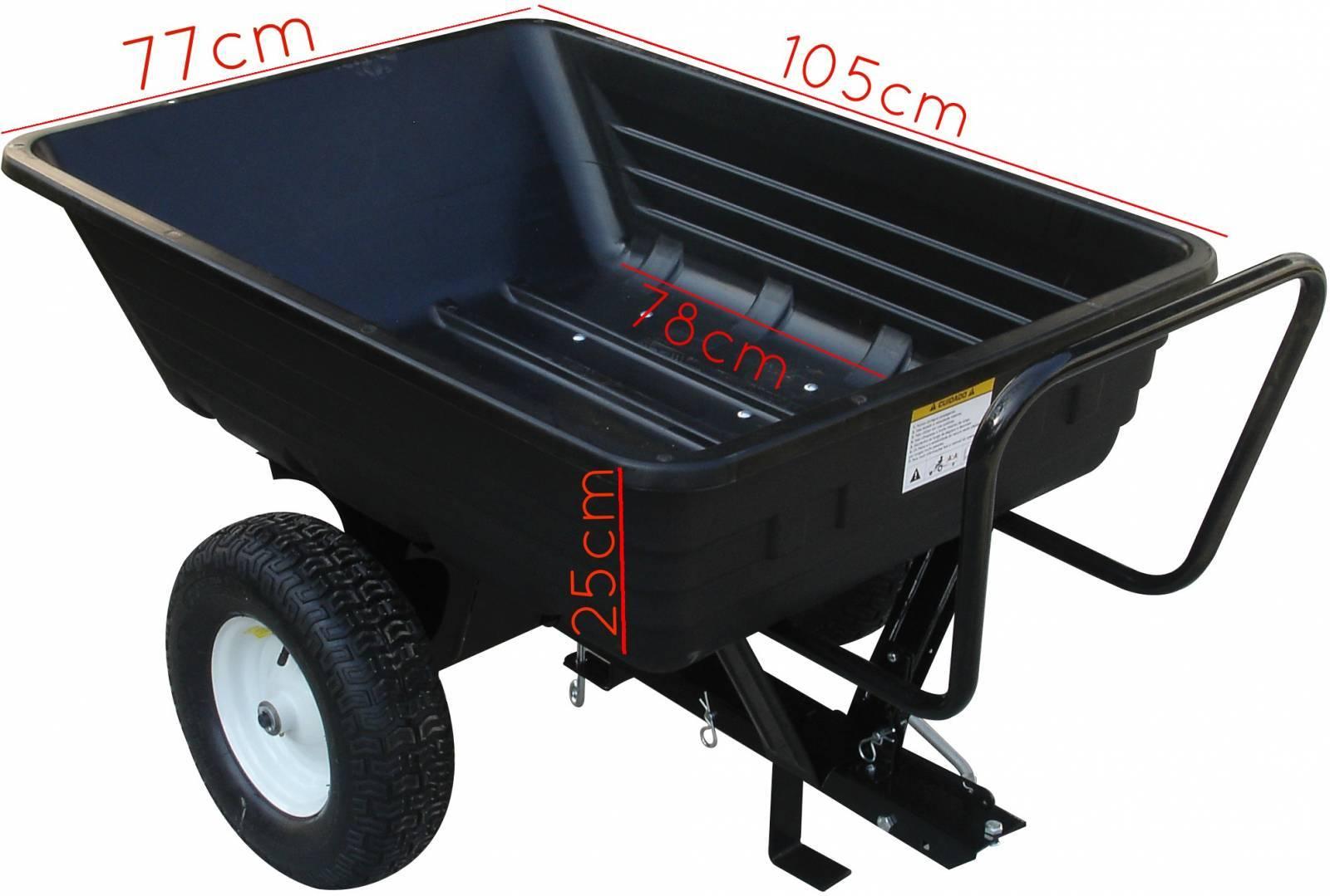 Carreta carretinha para motocultivador tratorito microtrator capac. 250kg