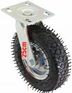 Rodízio pneumático giratório com pneu 2.50-4