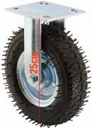 Rodízio pneumático fixo com pneu 2.50-4