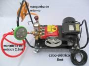 Lavadora de alta pressão bomba de pistão kawashima S22F com carrinho e motor | MÁQUINAS CURITIBA