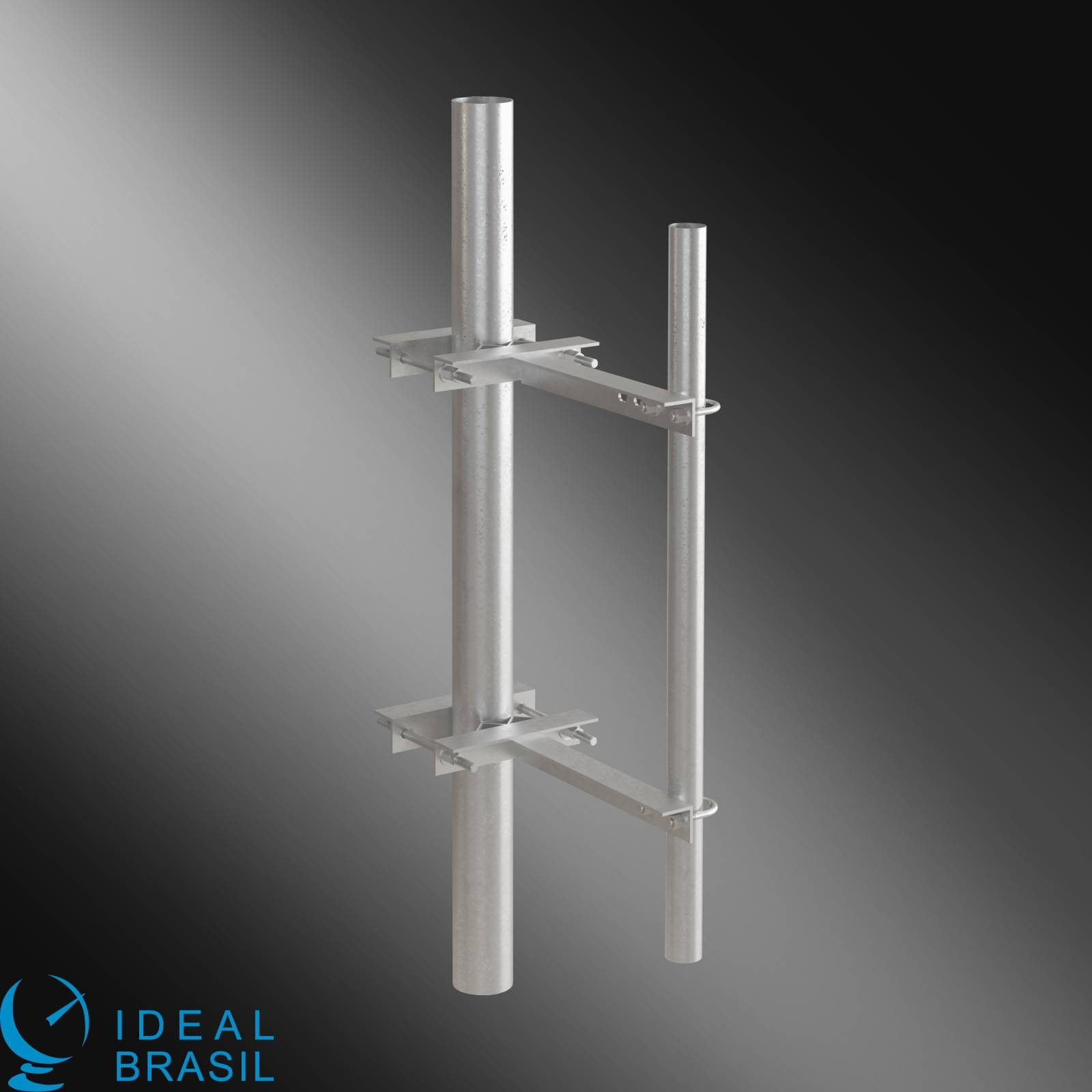 Suporte para Fixação de antena Mastro e Torre