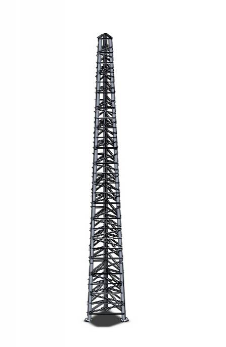 Torre Autoportante Triangular Parafusada - AEV 0,5M