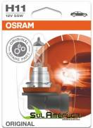 LAMPADA H11 12V 55W FAROL MILHA FOCUS FUSION RANGER ORIGINAL