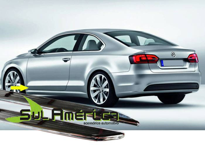 FRISO LATERAL INFERIOR VW JETTA 06/15 4P CROMADO (4PÇ?S)