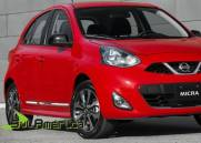 FRISO LATERAL NISSAN MARCH 11 12 13 14 15 16 4P CROMADO (4PÇ?S)