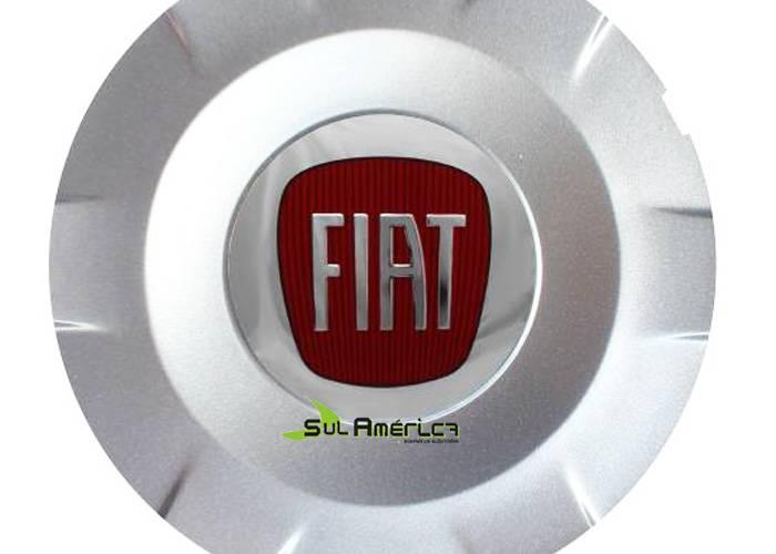 EMBLEMA CALOTA RODA FIAT VERMELHO 65mm Stilo Schumacher R15