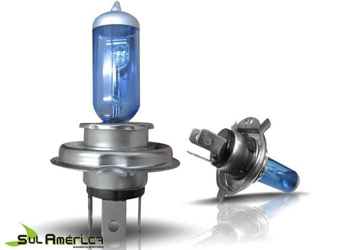 JOGO LAMPADA H4 12V 55W SUPER BRANCA XENON 8.500K (2PÇ?S)