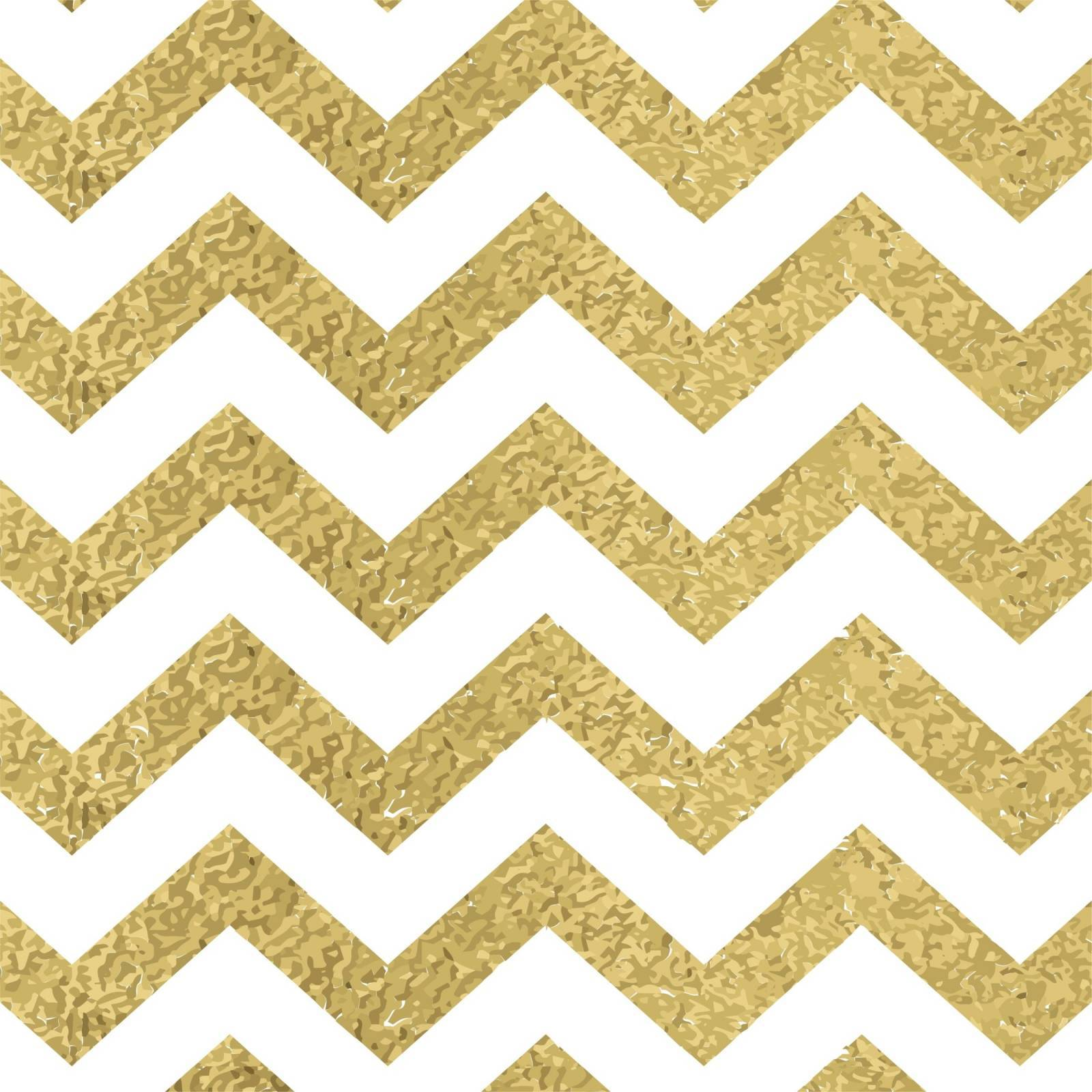 Papel de Parede Chevron Dourado/Rolo