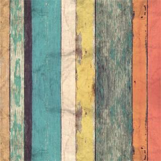 Papel de Parede Madeira de Demolição Colorida/Rolo | Redecorei