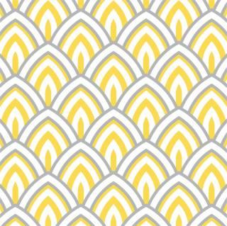 Papel de Parede Adesivo Geometrico Amarelo Cinza | Redecorei