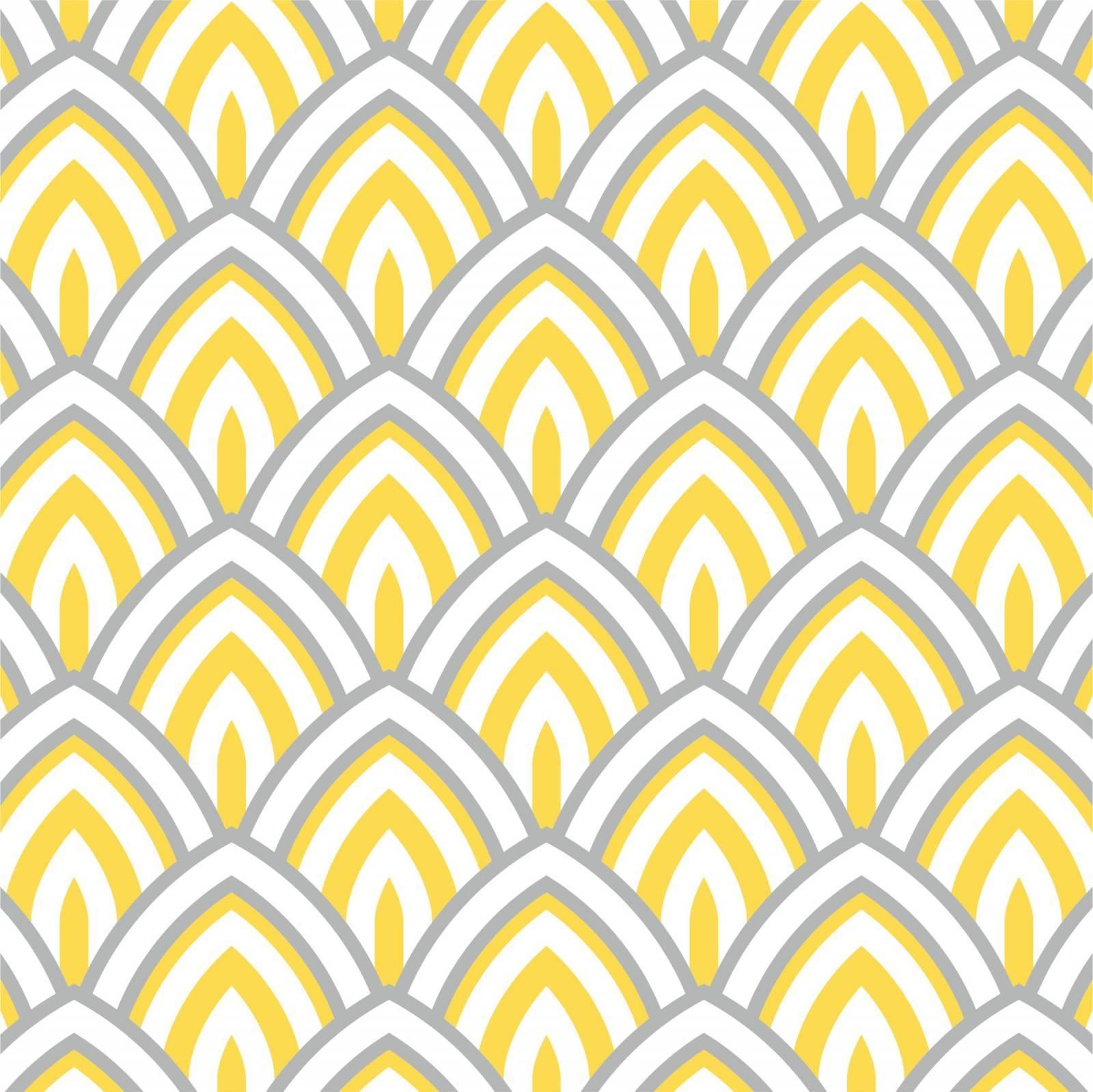 Papel de Parede Adesivo Geometrico Amarelo Cinza