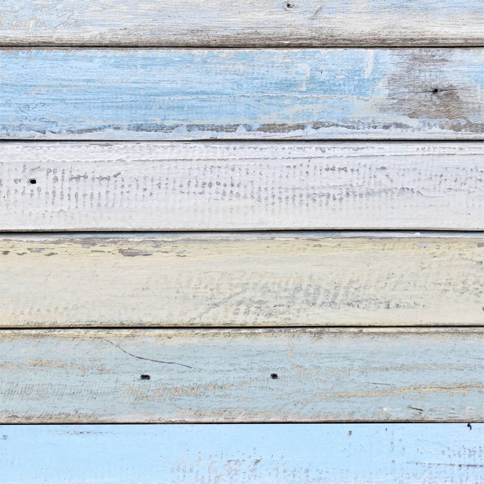 Papel de Parede Adesivo Madeira Azul /Rolo
