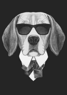 Quadro Cachorro de Terno | Redecorei