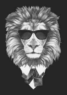 Quadro Leão de Terno | Redecorei