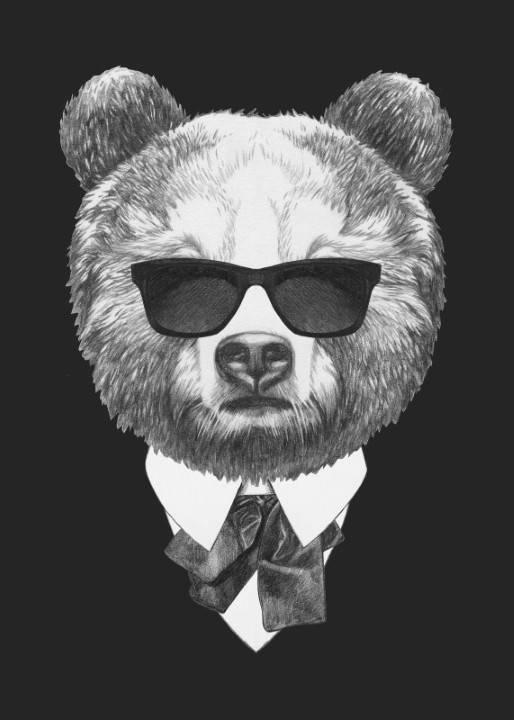 Quadro Urso de Terno