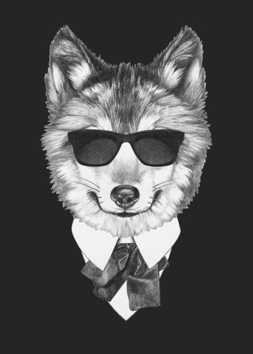 Quadro Cão de Terno