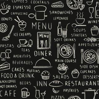 Papel de Parede Adesivo Gourmet Cardapio /Rolo | Redecorei