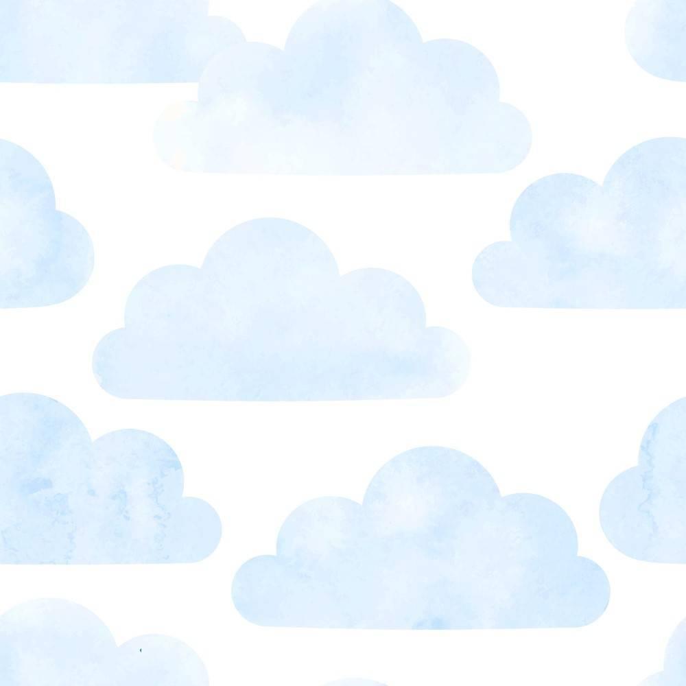Adesivo De Nuvem Parede ~ Papel de Parede Adesivo Nuvem Azul Rolo Redecorei