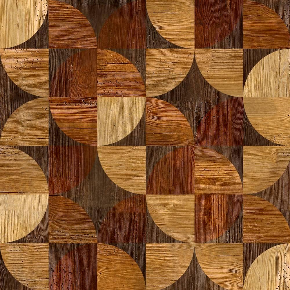 Papel de parede adesivo madeira geom trico rolo redecorei for Mosaico adesivo 3d