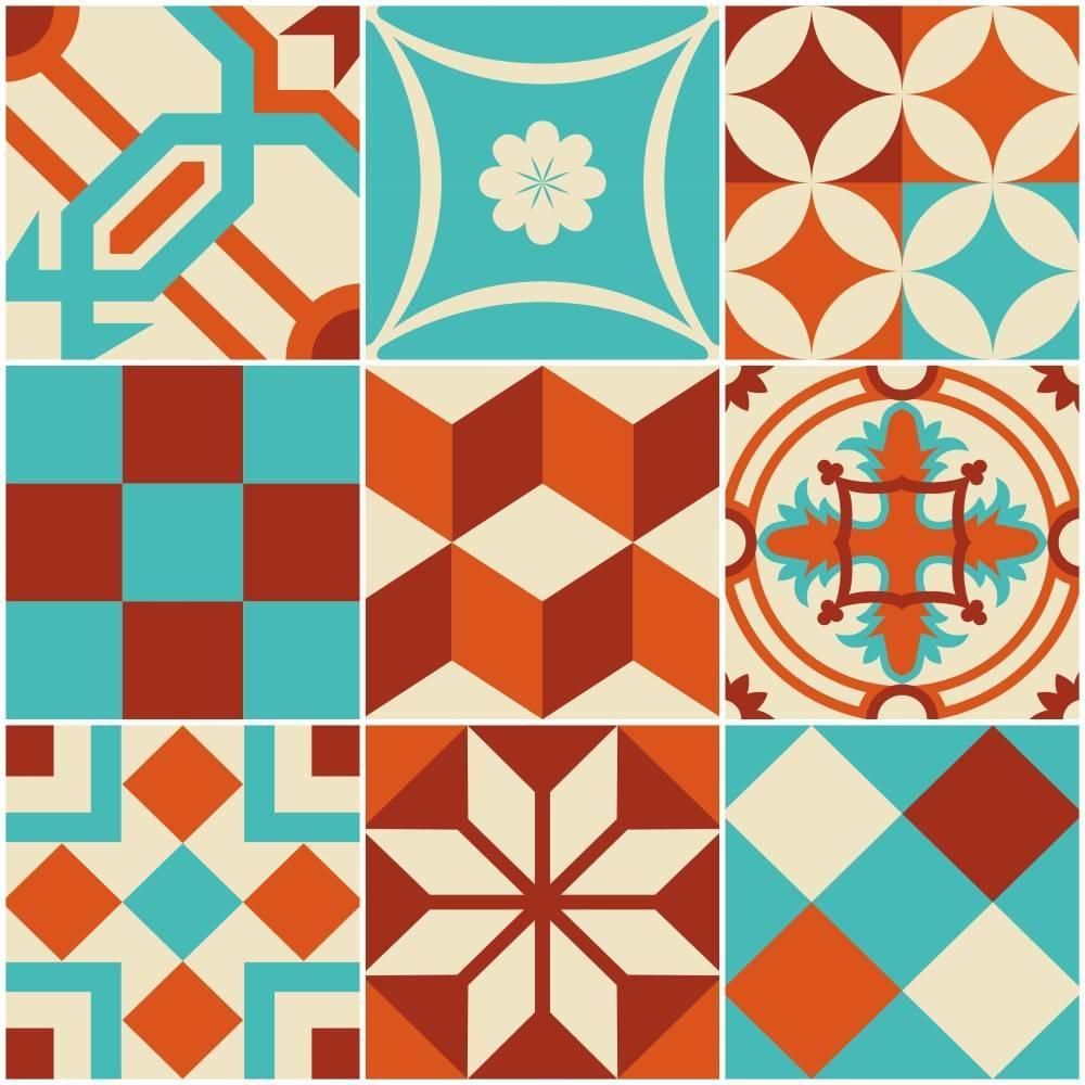 Papel de parede Adesivo Azulejo Lima