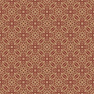 Papel de Parede Adesivo Arabesco Vermelho e Dourado | Redecorei
