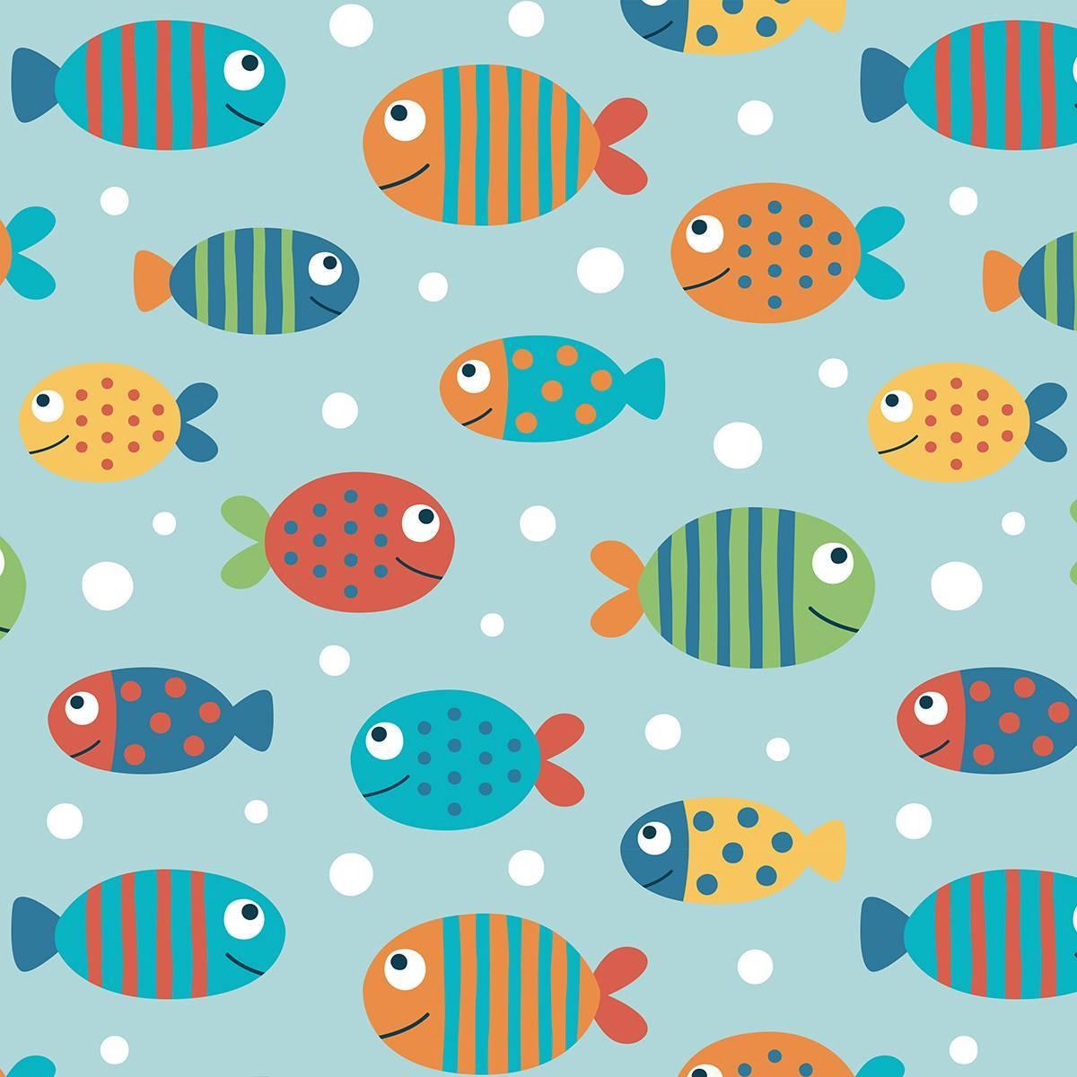 Papel de Parede Adesivo Peixes
