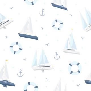 Papel de Parede Adesivo Barcos e Bóias | Redecorei