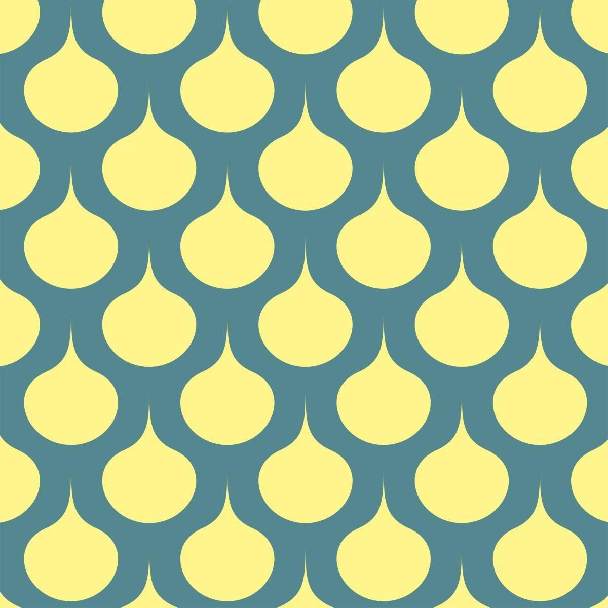 Papel de Parede Adesivo Retrô Amarelo