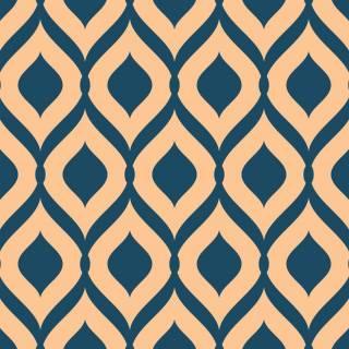 Papel de Parede Adesivo Retrô Azul e Amarelo | Redecorei