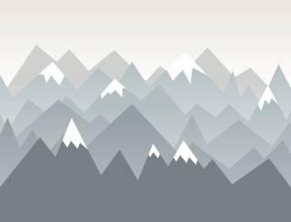 Painel Fotográfico Infantil Montanhas Neve/ m² | Redecorei