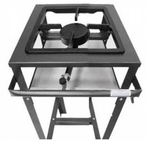 Fogão 01 boca FE-501 - alta pressão - Metal Brey