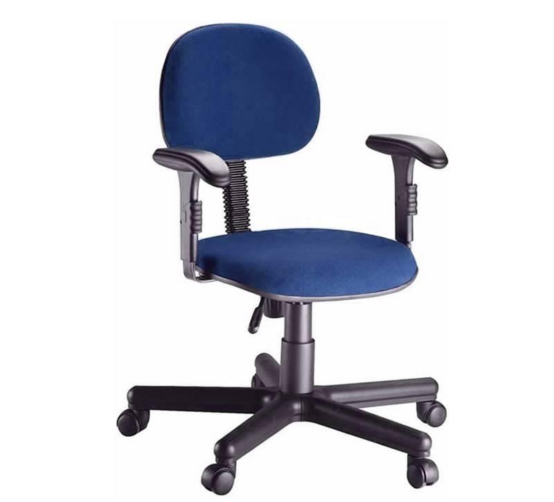 Cadeira Secretária Tecido Para Escritório Com Braço - Frisok