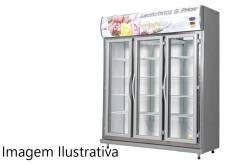 Expositor De Bebidas, Frios E Laticínios Klima 03 Portas - Preto