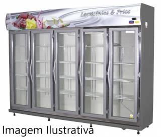 Expositor De Bebidas, Frios E Laticínios Klima 05 Portas - P