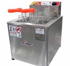 Fritadeira Elétrica água e óleo - Inox FRM-18 de mesa - 220V - SKYMSEN