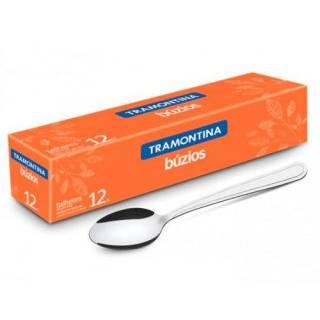 Colher para sobremesa em aço inox com 12 pçs - BÚZIOS
