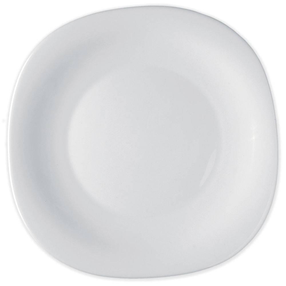 Prato raso Parma Bormioli 27cm vidro temperado branco