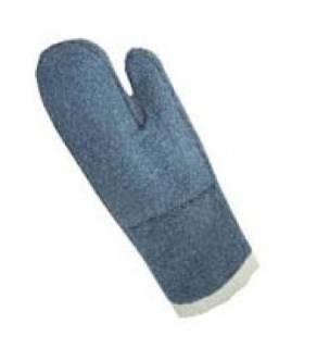Luva grafatex mão de gato azul cano longo 50cm cód 34A LAMAR