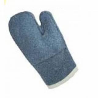 Luva grafatex mão de gato azul cano curto 35cm cód 04A LAMAR